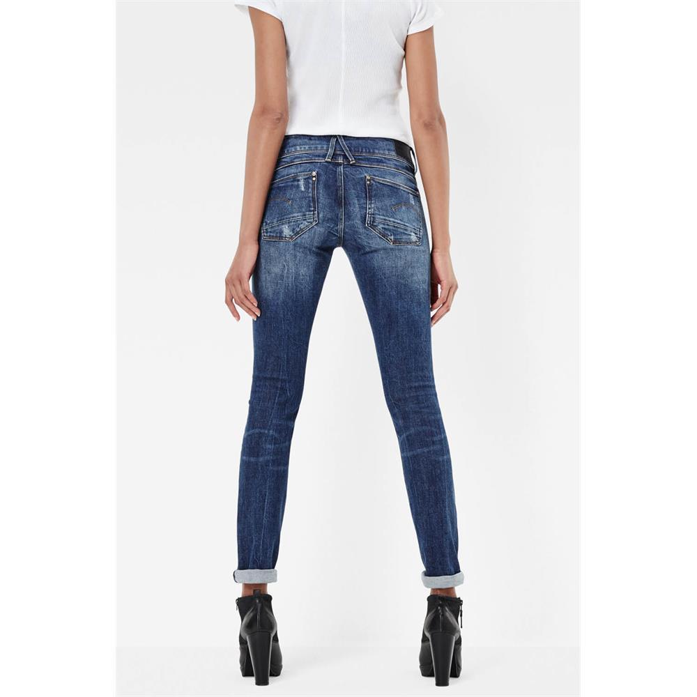 Indexbild 48 - G-Star Lynn Mid Waist Skinny Damen Jeans Hose Jeanshose Röhrenjeans