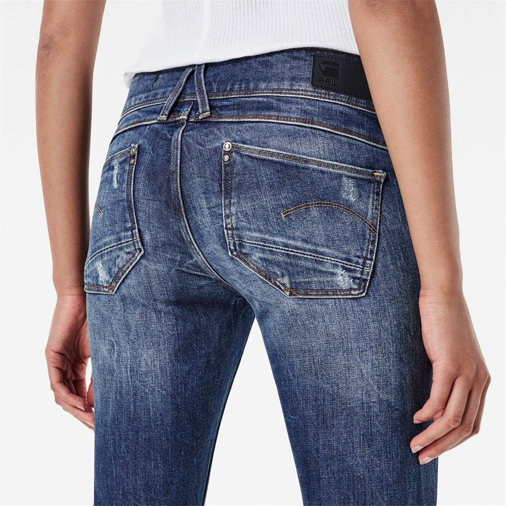 Indexbild 49 - G-Star Lynn Mid Waist Skinny Damen Jeans Hose Jeanshose Röhrenjeans