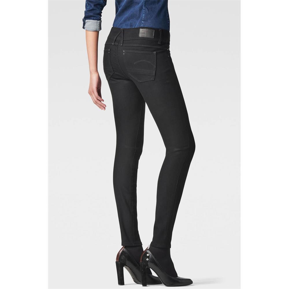 Indexbild 6 - G-Star Lynn Zip Mid Waist Skinny Damen Jeans Hose Jeanshose Röhrenjeans