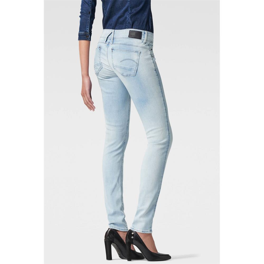 Indexbild 9 - G-Star Lynn Zip Mid Waist Skinny Damen Jeans Hose Jeanshose Röhrenjeans