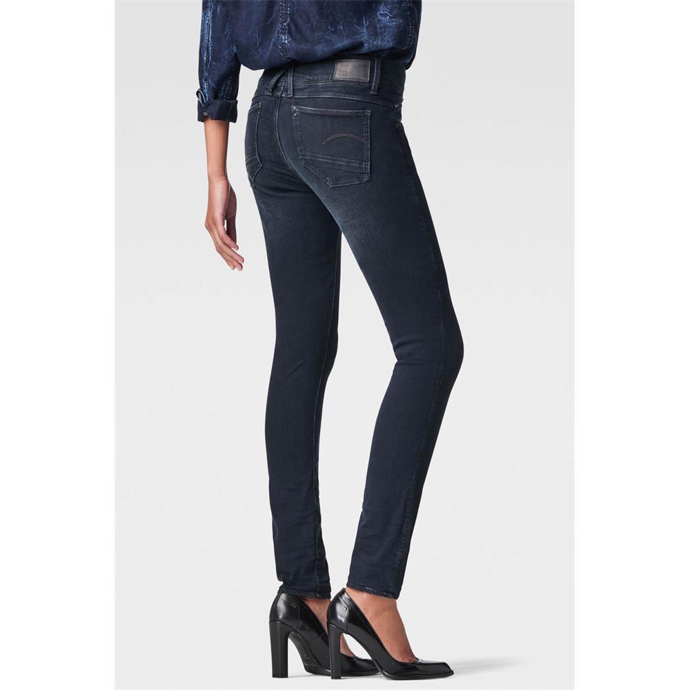 Indexbild 3 - G-Star Lynn Zip Mid Waist Skinny Damen Jeans Hose Jeanshose Röhrenjeans