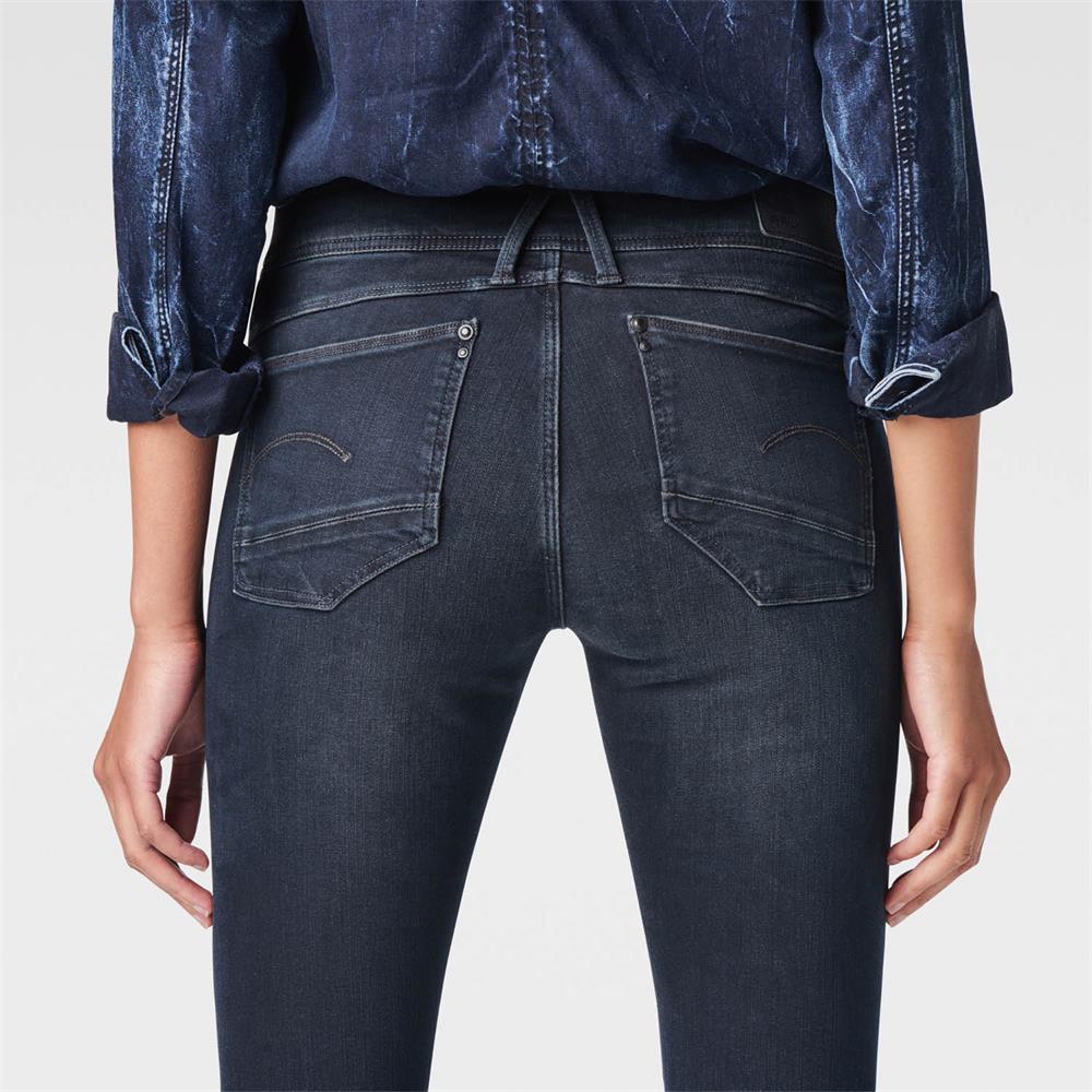 Indexbild 4 - G-Star Lynn Zip Mid Waist Skinny Damen Jeans Hose Jeanshose Röhrenjeans