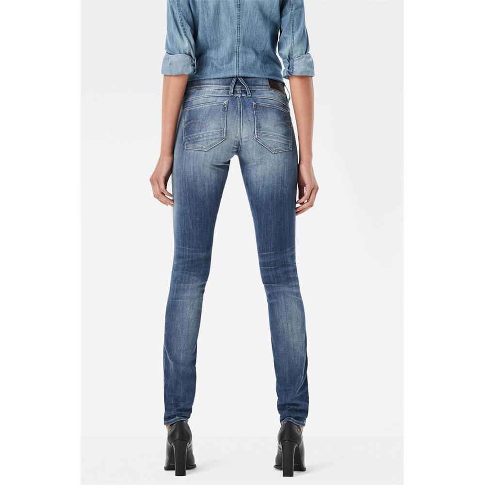 Indexbild 12 - G-Star Lynn Zip Mid Waist Skinny Damen Jeans Hose Jeanshose Röhrenjeans