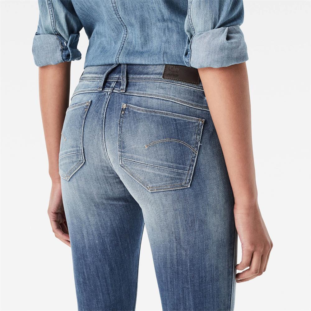 Indexbild 13 - G-Star Lynn Zip Mid Waist Skinny Damen Jeans Hose Jeanshose Röhrenjeans