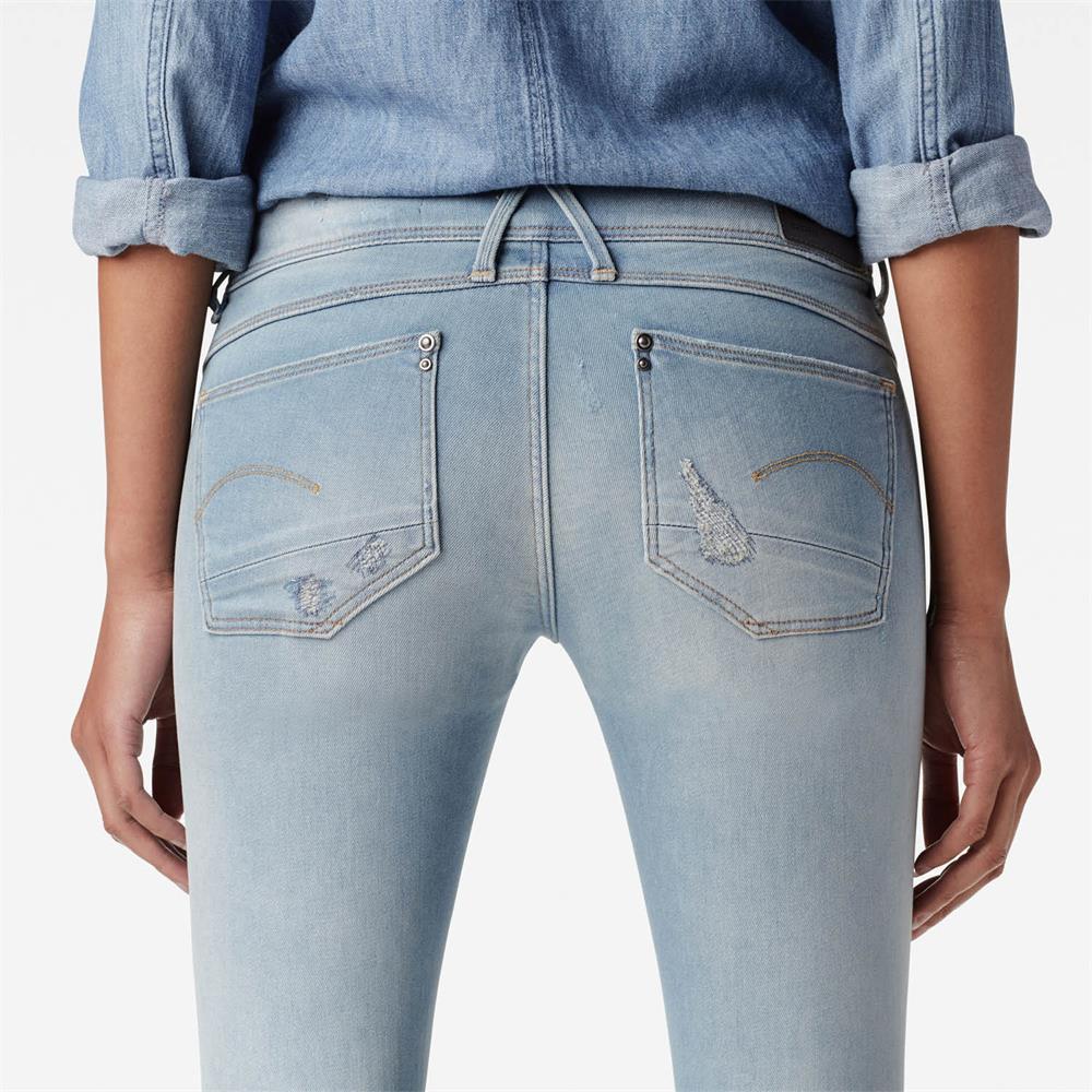 Indexbild 16 - G-Star Lynn Zip Mid Waist Skinny Damen Jeans Hose Jeanshose Röhrenjeans