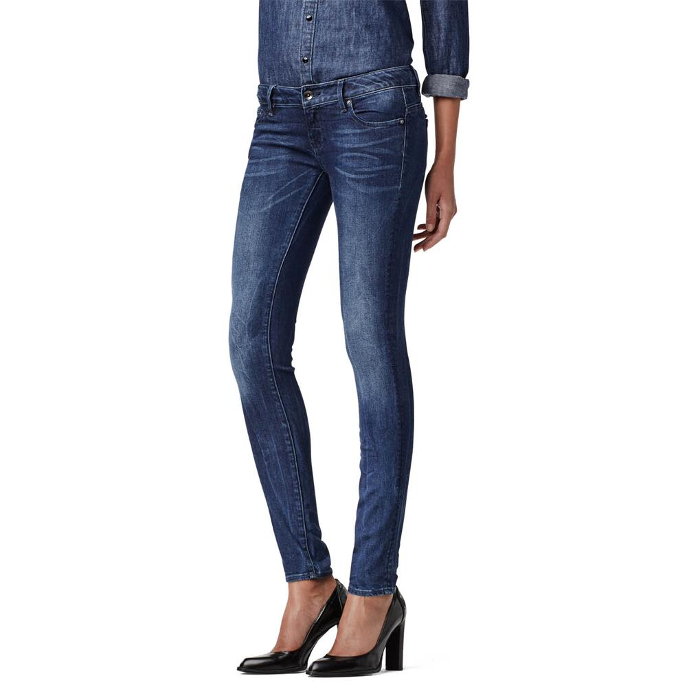 Indexbild 2 - G-Star Midge Zip Low Waist Super Skinny Damen Jeans Hose Jeanshose Röhrenjeans