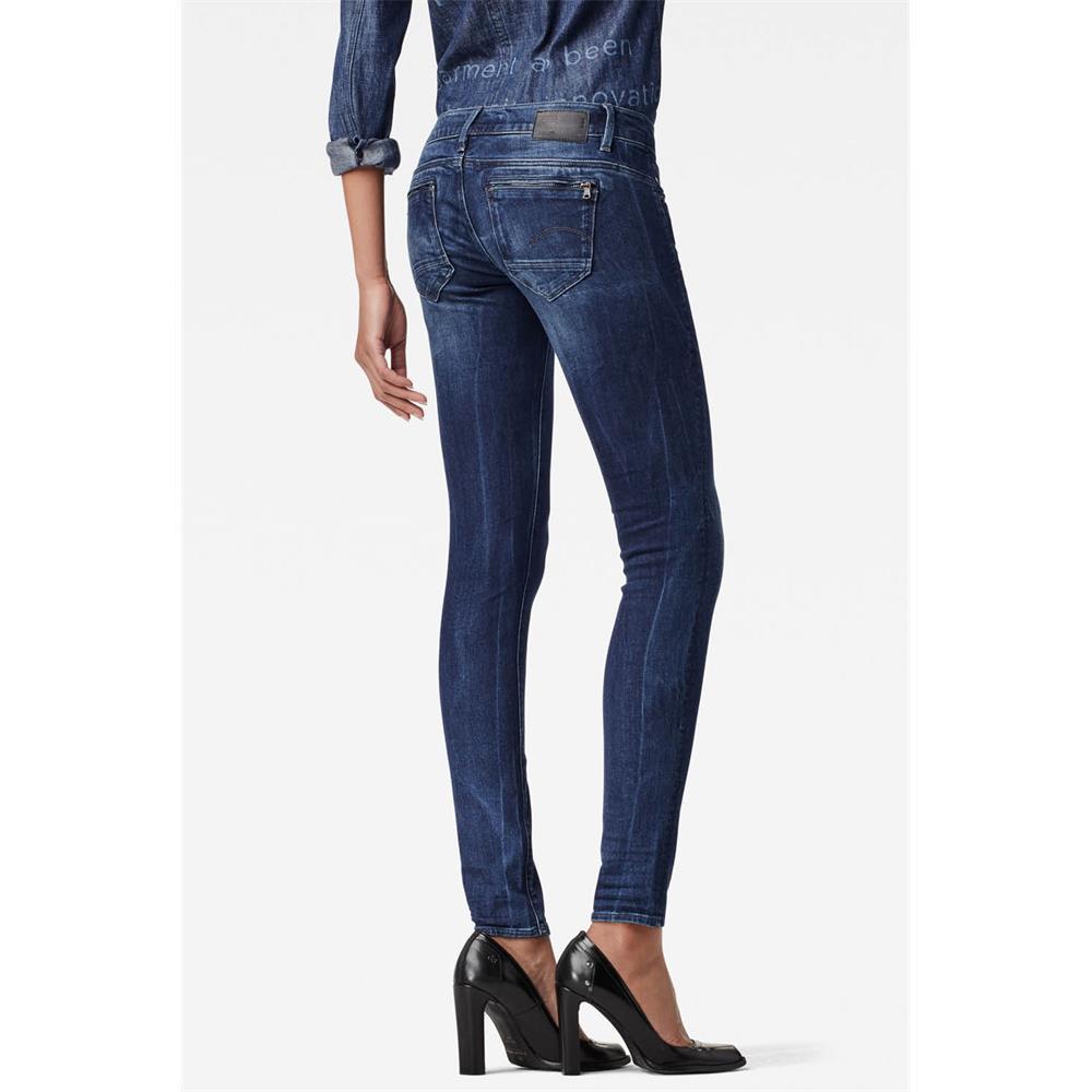 Indexbild 3 - G-Star Midge Zip Low Waist Super Skinny Damen Jeans Hose Jeanshose Röhrenjeans