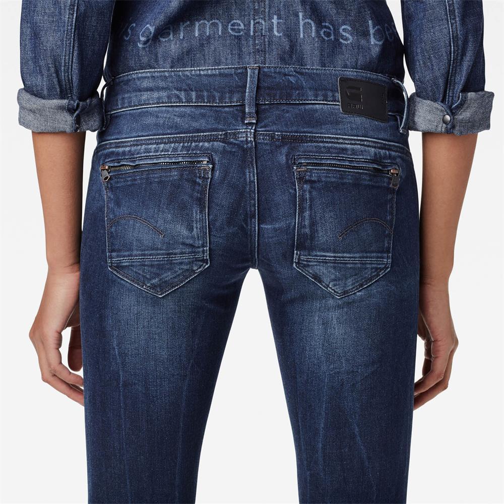 Indexbild 4 - G-Star Midge Zip Low Waist Super Skinny Damen Jeans Hose Jeanshose Röhrenjeans