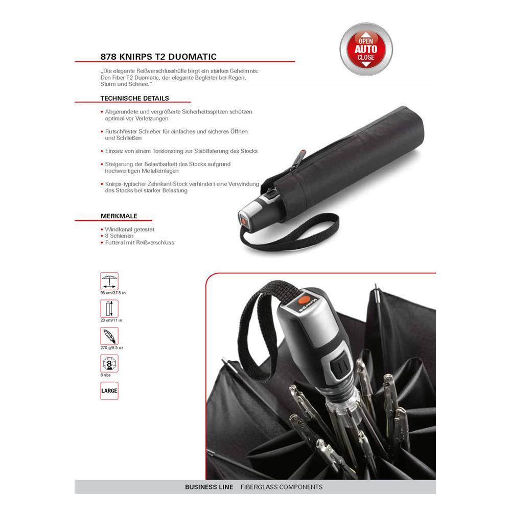 Indexbild 4 - Knirps Fiber T2 Duomatic Regenschirm Taschenschirm