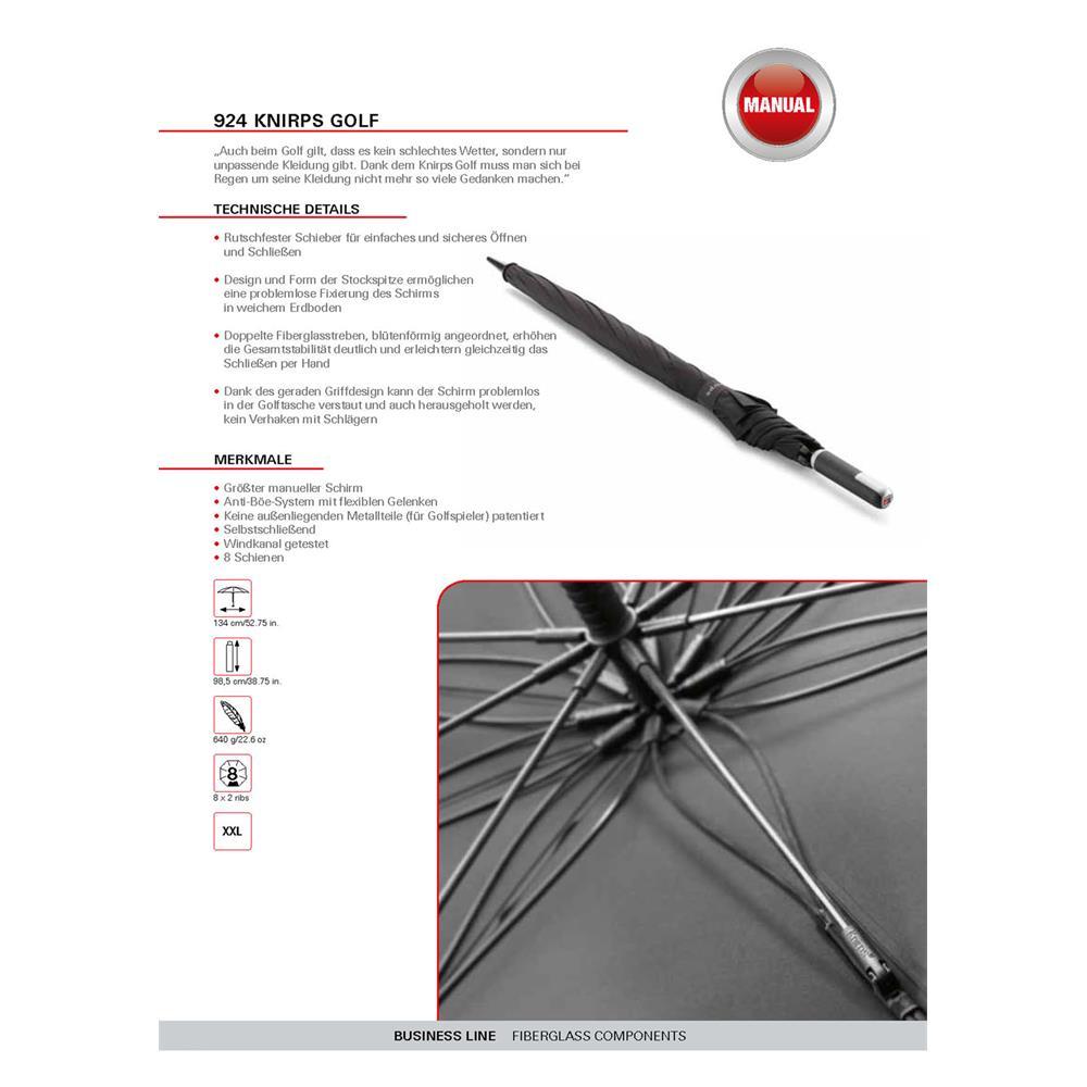 Indexbild 5 - Knirps Golf Straight Handle Regenschirm Stockschirm