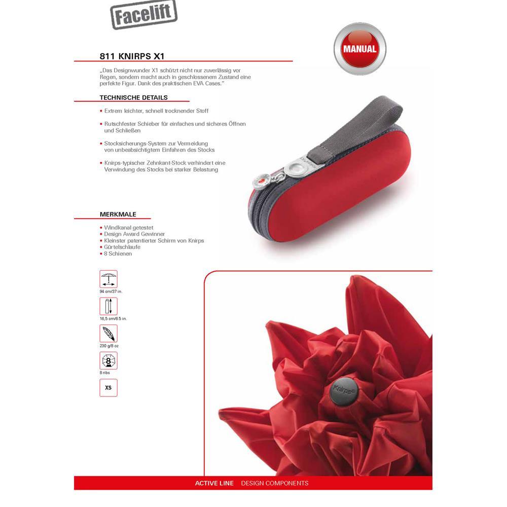 Knirps-X1-Regenschirm-Taschenschirm Indexbild 8