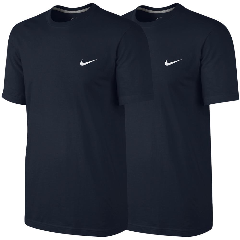 2x-Nike-Embroidered-Swoosh-T-Shirt-Classic-Basic-Fitness-Freizeit-Shirt-Top
