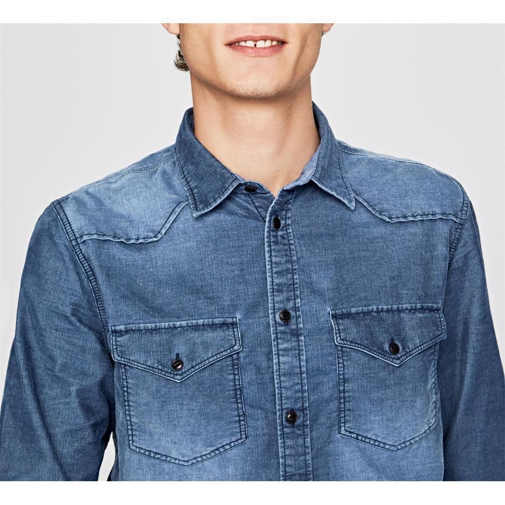 Pepe-Jeans-Canyon-Cord-Herren-Hemd-Langarm-Shirt-Jeans-look Indexbild 4