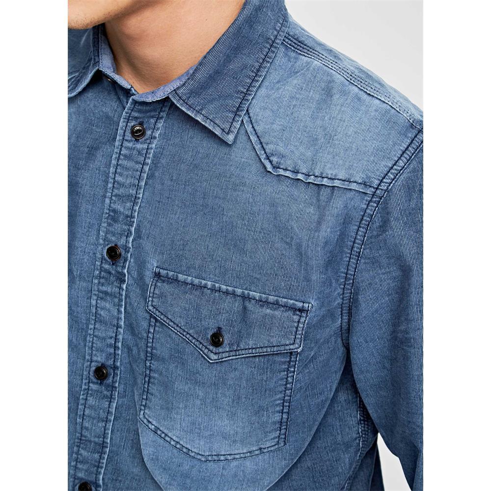 Pepe-Jeans-Canyon-Cord-Herren-Hemd-Langarm-Shirt-Jeans-look Indexbild 5