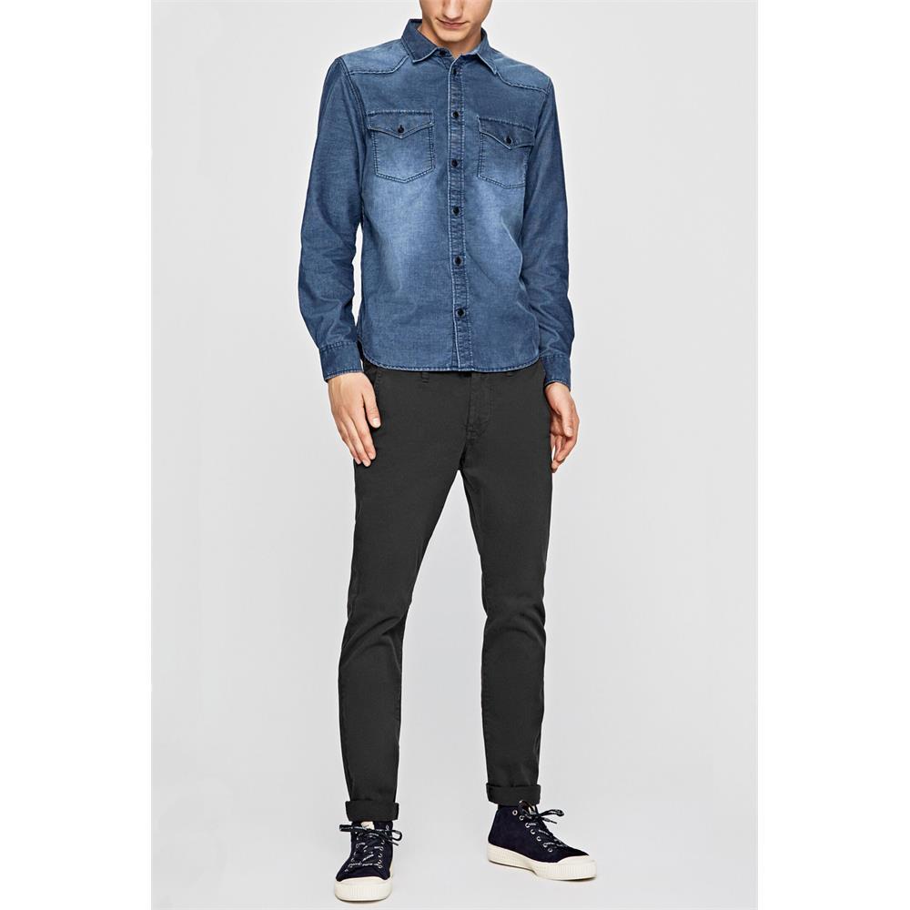 Pepe-Jeans-Canyon-Cord-Herren-Hemd-Langarm-Shirt-Jeans-look Indexbild 6