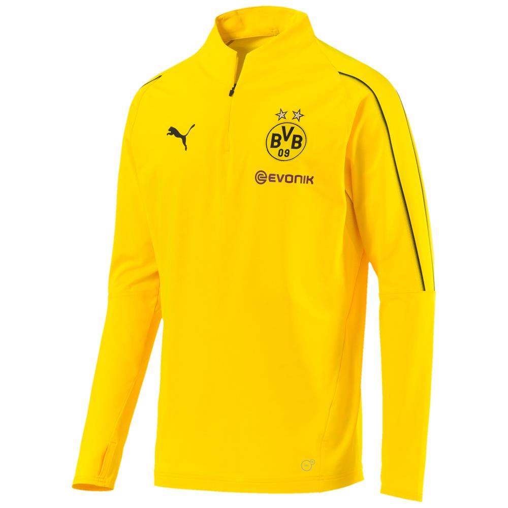 Puma-BVB-Borussia-Dortmund-Herren-Trainingsanzug-1-4-Zip-Top-Hose-2018-19 Indexbild 12