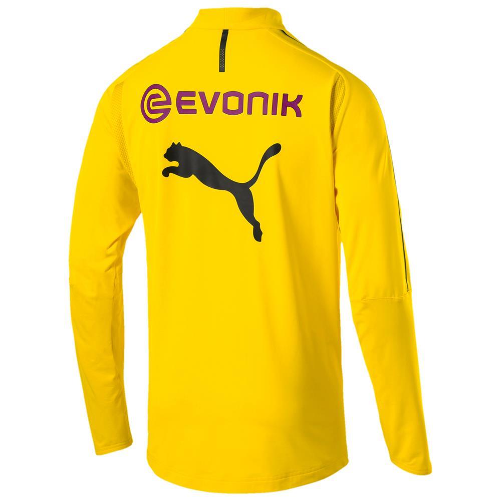 Puma-BVB-Borussia-Dortmund-Herren-1-4-Zip-Training-Top-Langarm Indexbild 3