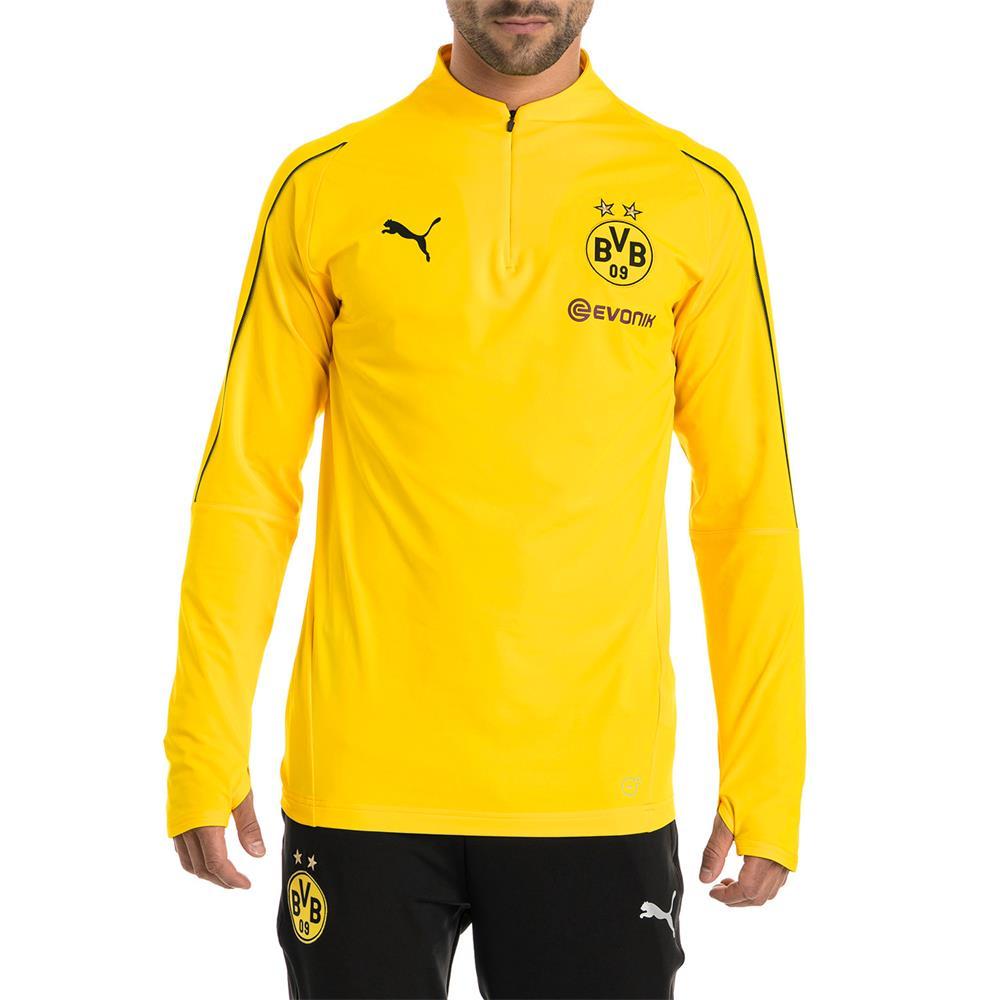 Puma-BVB-Borussia-Dortmund-Herren-1-4-Zip-Training-Top-Langarm Indexbild 4