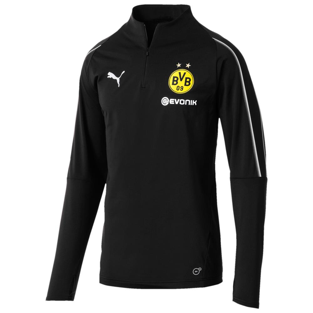 Puma-BVB-Borussia-Dortmund-Herren-Trainingsanzug-1-4-Zip-Top-Hose-2018-19 Indexbild 6