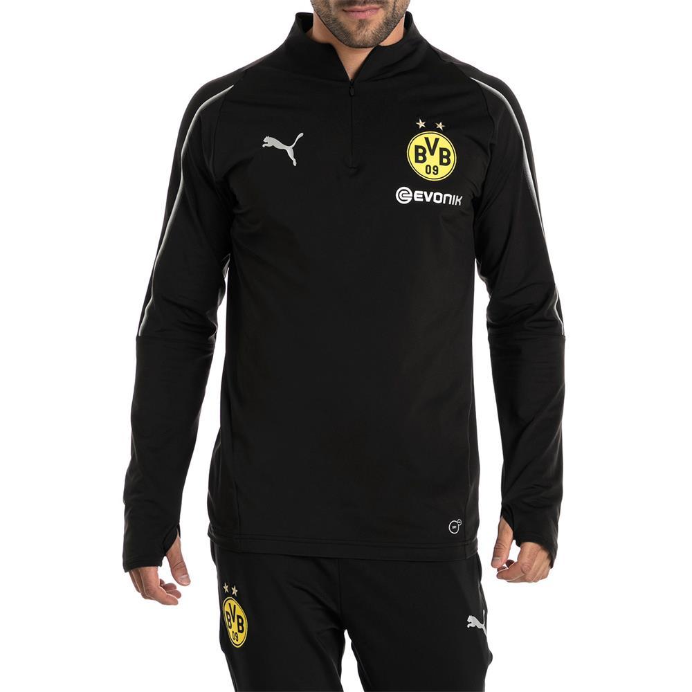 Puma-BVB-Borussia-Dortmund-Herren-1-4-Zip-Training-Top-Langarm Indexbild 9