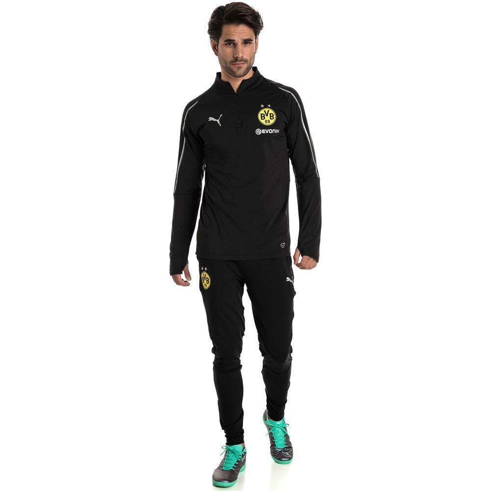 Puma-BVB-Borussia-Dortmund-Herren-1-4-Zip-Training-Top-Langarm Indexbild 11