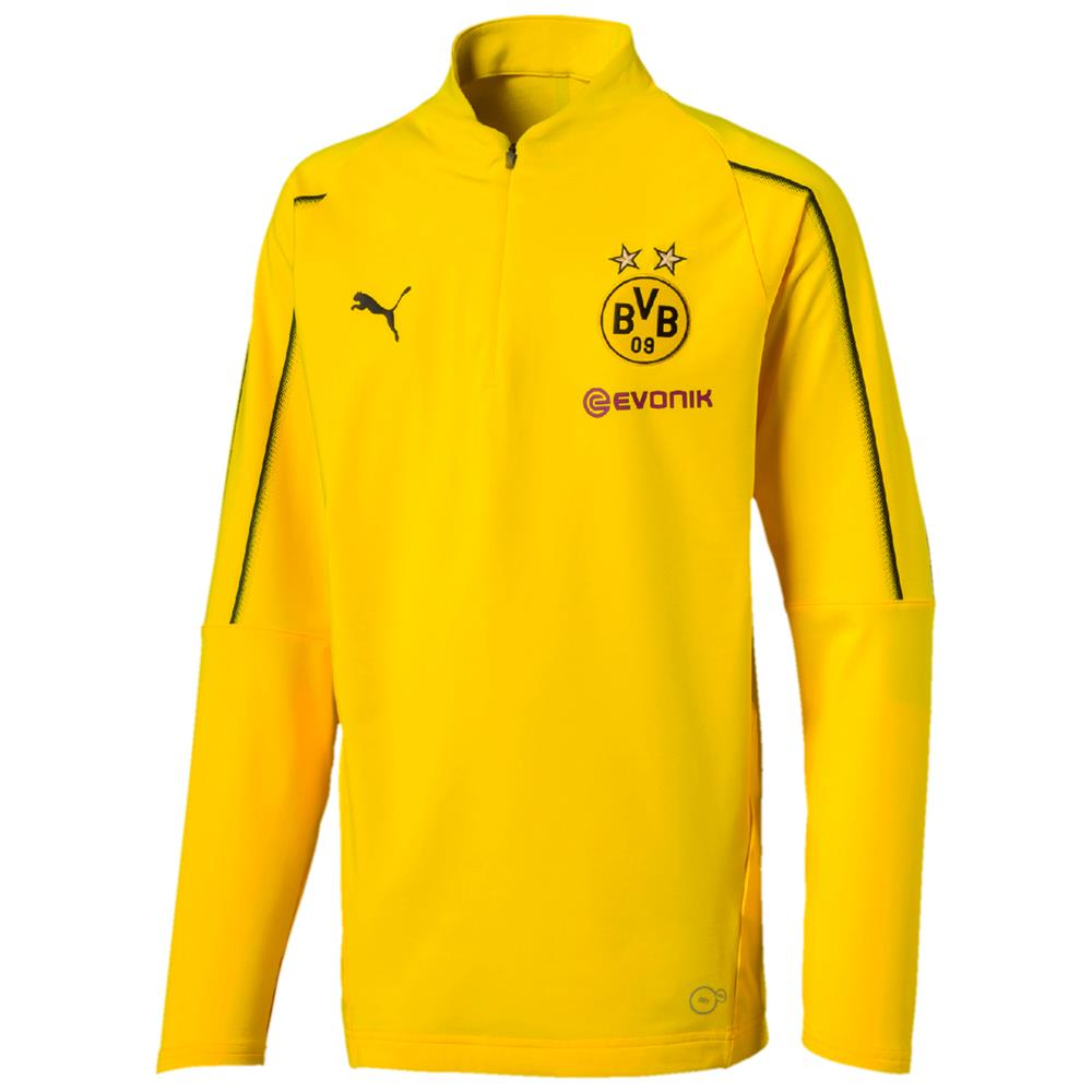 Puma-BVB-Borussia-Dortmund-Kinder-Trainingsanzug-1-4-Zip-Top-Hose-2018-19 Indexbild 6