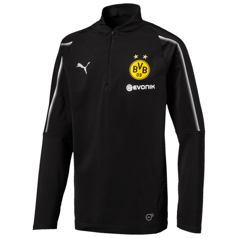 Puma-BVB-Borussia-Dortmund-Kinder-Trainingsanzug-1-4-Zip-Top-Hose-2018-19 Indexbild 3
