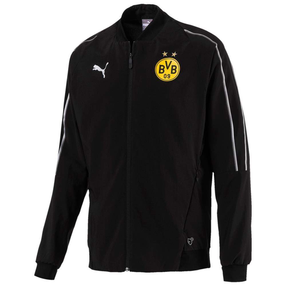 Puma-BVB-Borussia-Dortmund-Herren-Leisure-Trainingsanzug-Jacke-Hose-2018-19 Indexbild 3