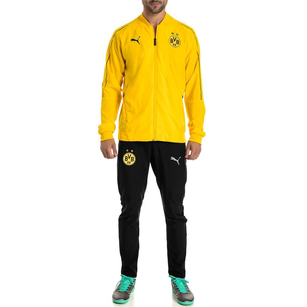 Puma-BVB-Borussia-Dortmund-Herren-Leisure-Trainingshose-Sporthose Indexbild 4
