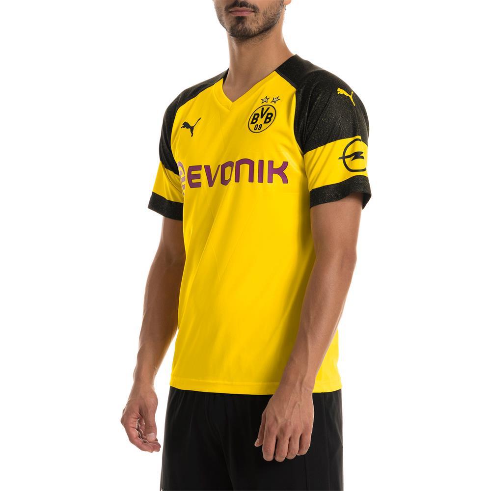 Puma-BVB-Borussia-Dortmund-Herren-Replica-Home-Trikot-Heimtrikot-Fussballtrikot Indexbild 4