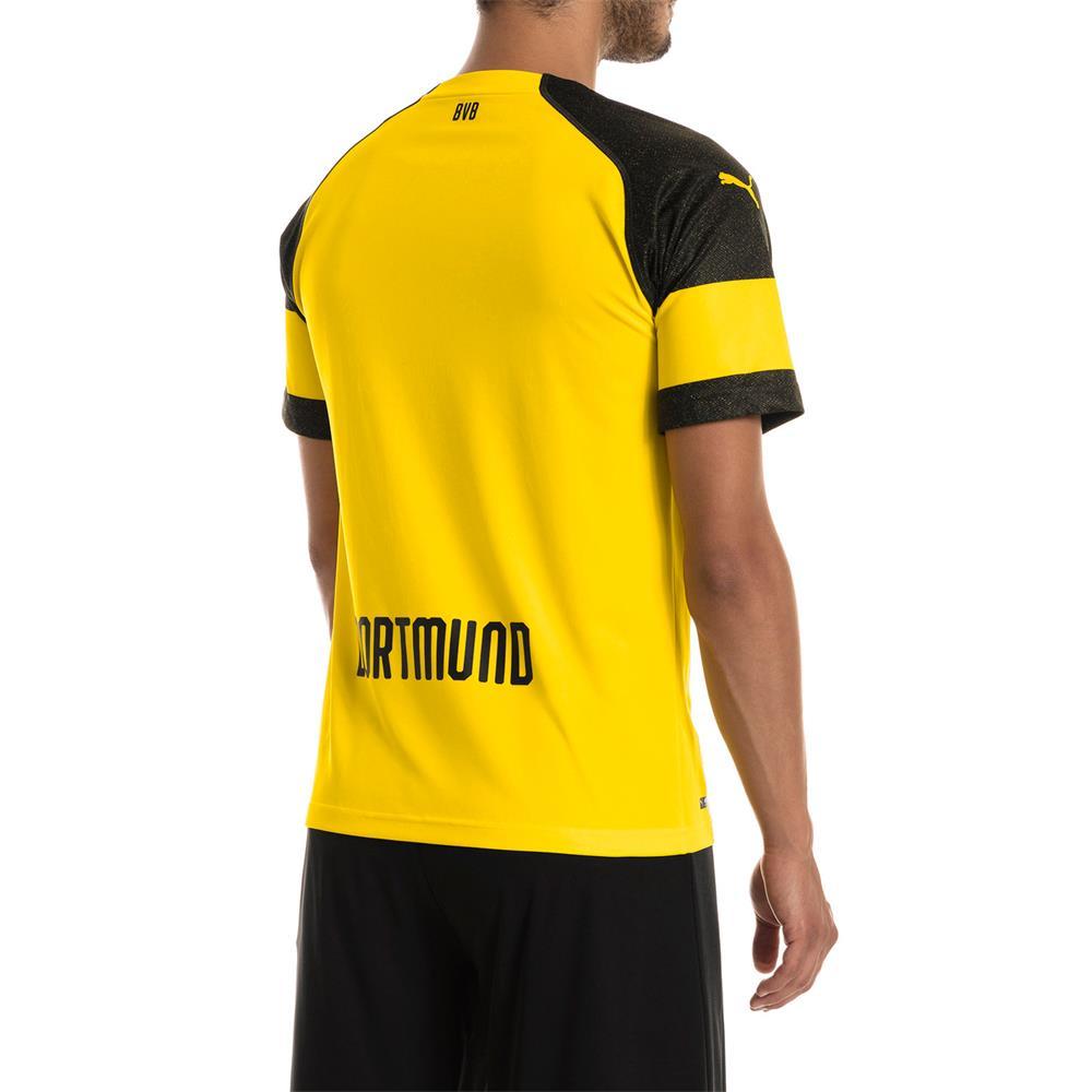 Puma-BVB-Borussia-Dortmund-Herren-Replica-Home-Trikot-Heimtrikot-Fussballtrikot Indexbild 5