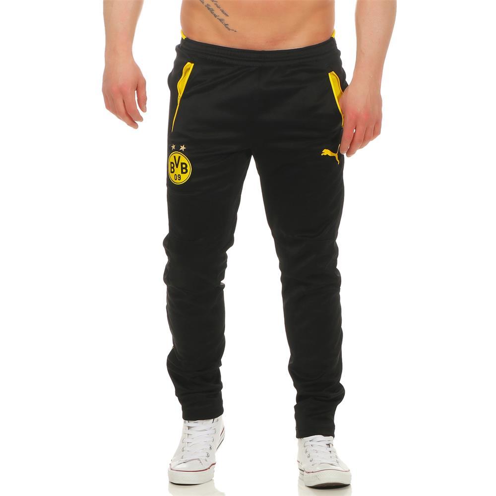 Puma-BVB-Borussia-Dortmund-Herren-Hose-Trainingshose-Jogginghose-Sporthose Indexbild 4