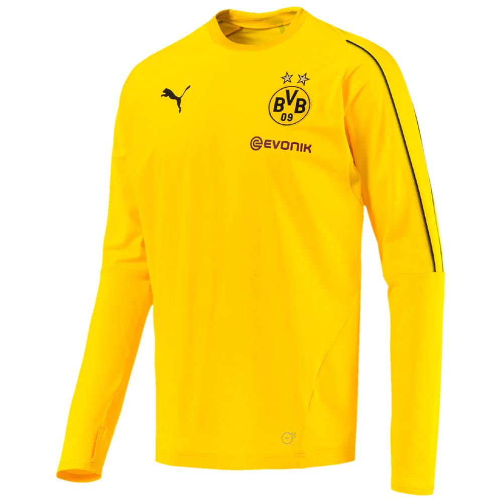 Indexbild 2 - Puma BVB Borussia Dortmund Herren Training Sweat Top Langarm Trikot
