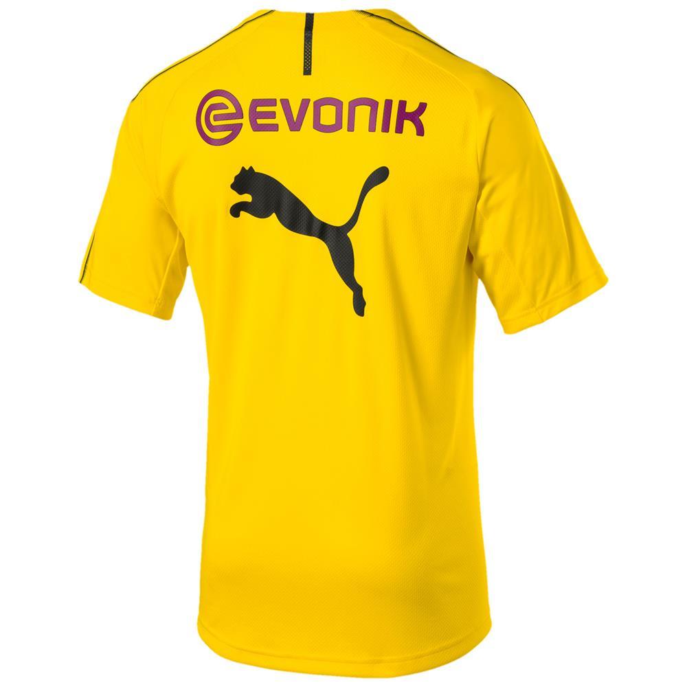 Puma-BVB-Borussia-Dortmund-Herren-Training-Trikot-Jersey-Fan-Fussballtrikot Indexbild 3