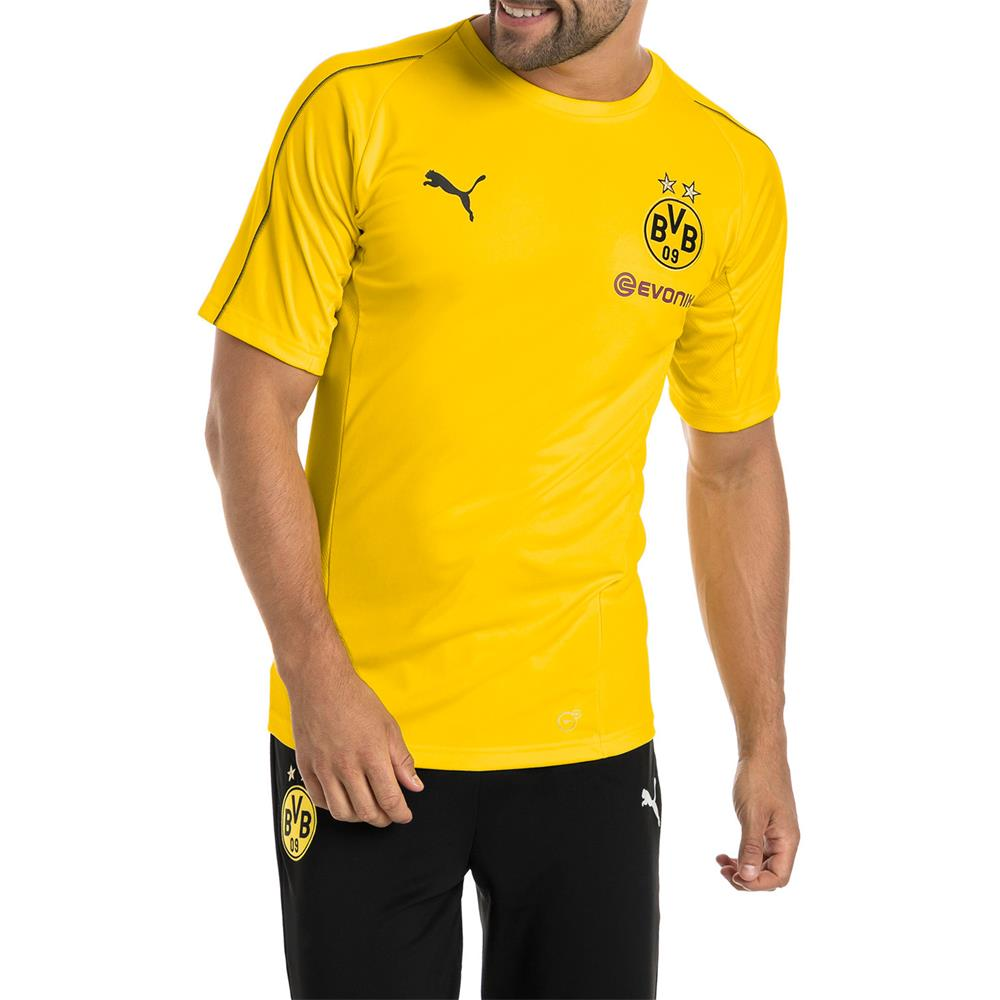 Puma-BVB-Borussia-Dortmund-Herren-Training-Trikot-Jersey-Fan-Fussballtrikot Indexbild 4