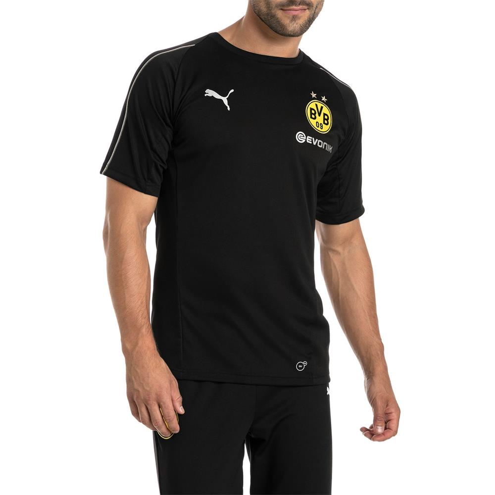 Puma-BVB-Borussia-Dortmund-Herren-Training-Trikot-Jersey-Fan-Fussballtrikot Indexbild 8