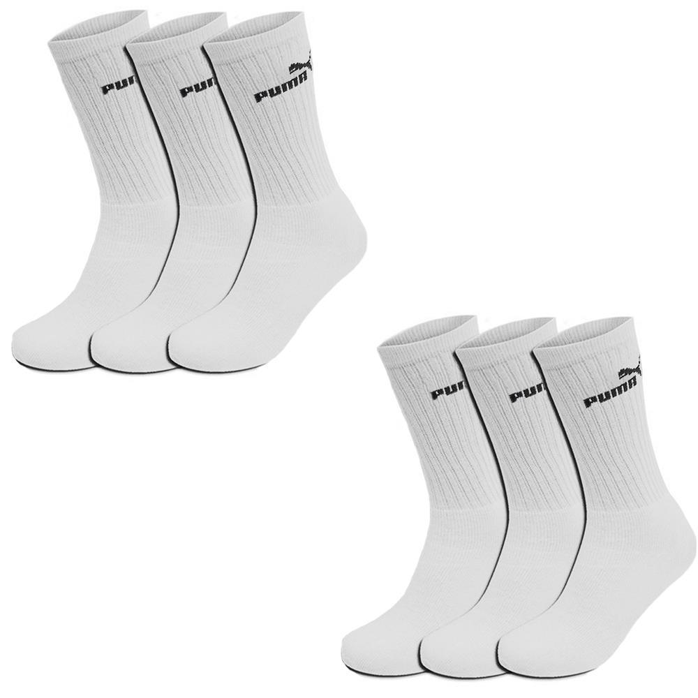 Puma-Crew-Socken-3-6-9-12-15-18-Paar-Sportsocken-Stuempfe-Tennissocken