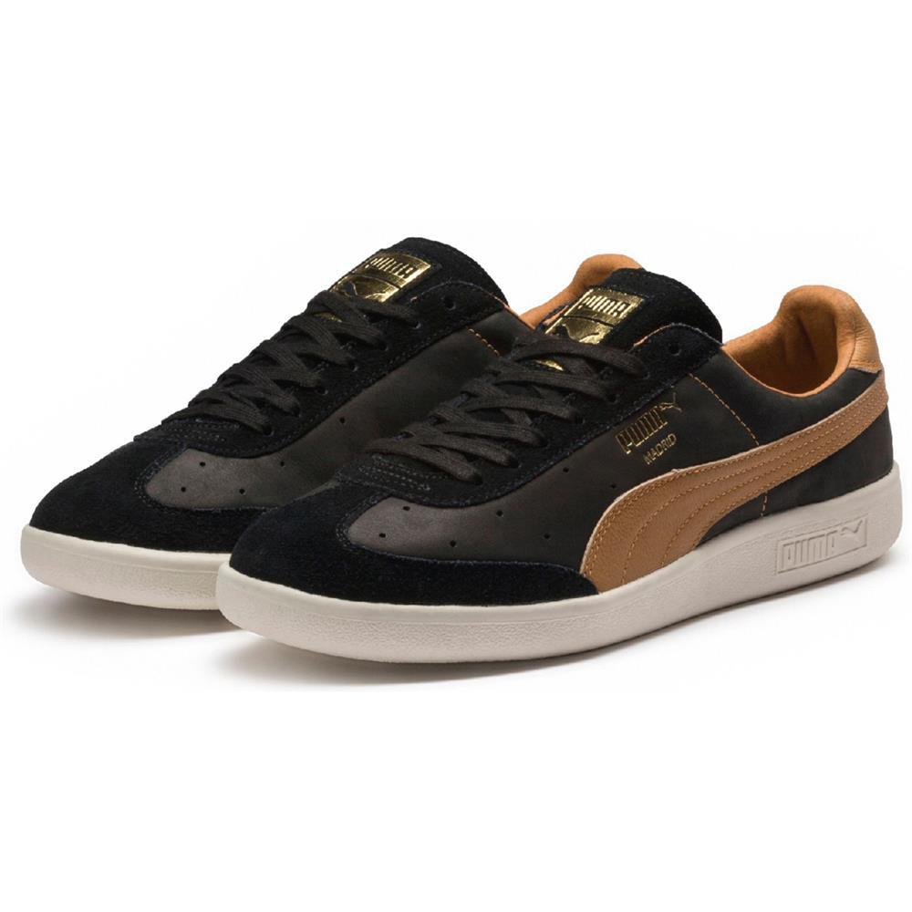 Puma-Madrid-Tanned-Herren-Sneaker-Leder-Schuhe-Turnschuhe-Sportschuhe Indexbild 8
