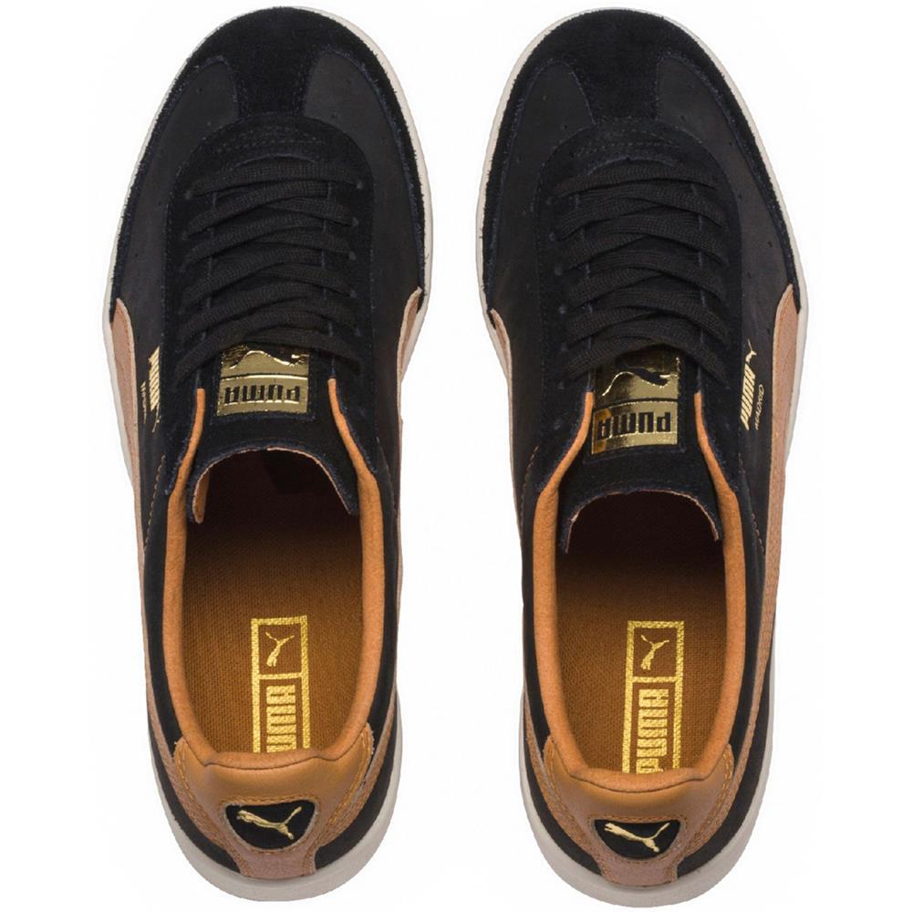 Puma-Madrid-Tanned-Herren-Sneaker-Leder-Schuhe-Turnschuhe-Sportschuhe Indexbild 10