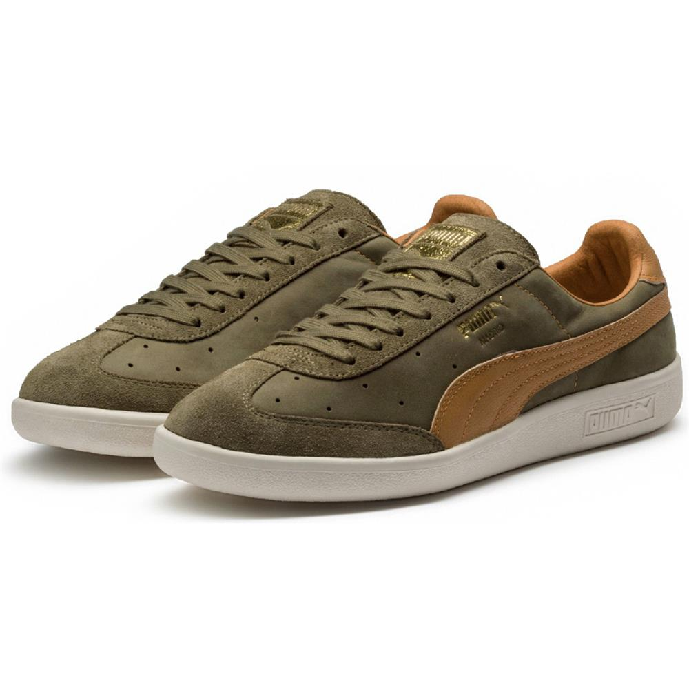 Puma-Madrid-Tanned-Herren-Sneaker-Leder-Schuhe-Turnschuhe-Sportschuhe Indexbild 13