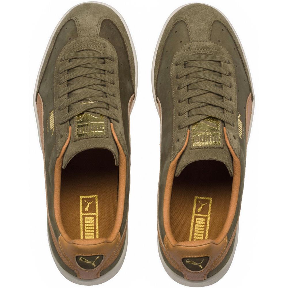 Puma-Madrid-Tanned-Herren-Sneaker-Leder-Schuhe-Turnschuhe-Sportschuhe Indexbild 15