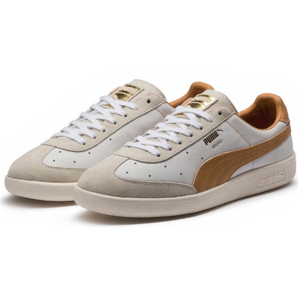 Puma-Madrid-Tanned-Herren-Sneaker-Leder-Schuhe-Turnschuhe-Sportschuhe Indexbild 3