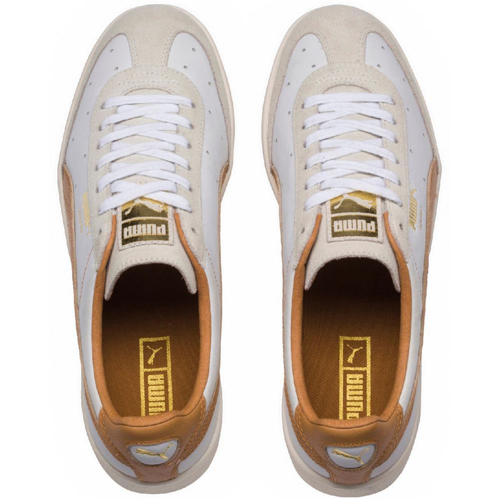Puma-Madrid-Tanned-Herren-Sneaker-Leder-Schuhe-Turnschuhe-Sportschuhe Indexbild 5
