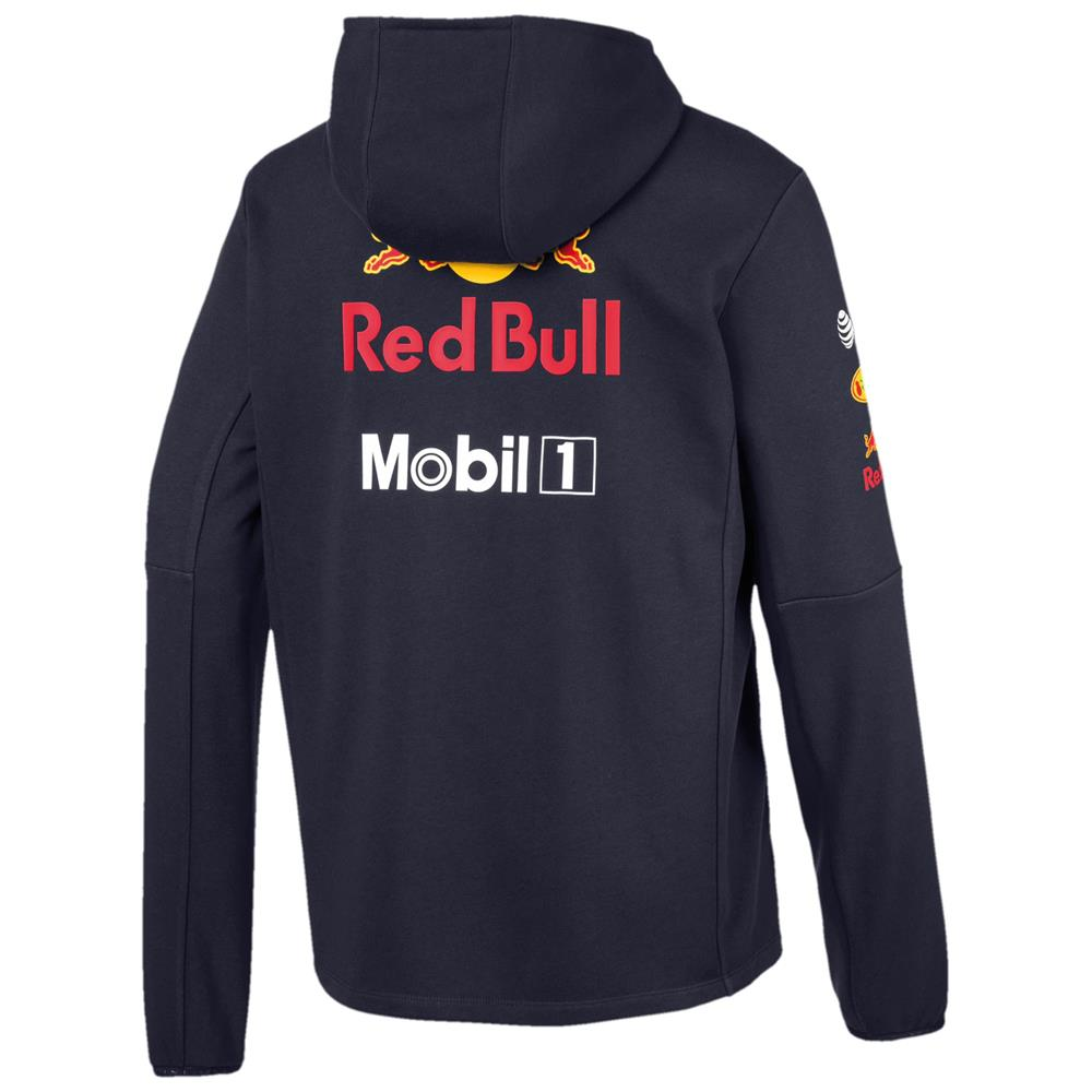 Puma-Red-Bull-Racing-Team-Hoodie-F1-Herren-Kapuzenjacke-Formel-1-Sweatjacke Indexbild 3