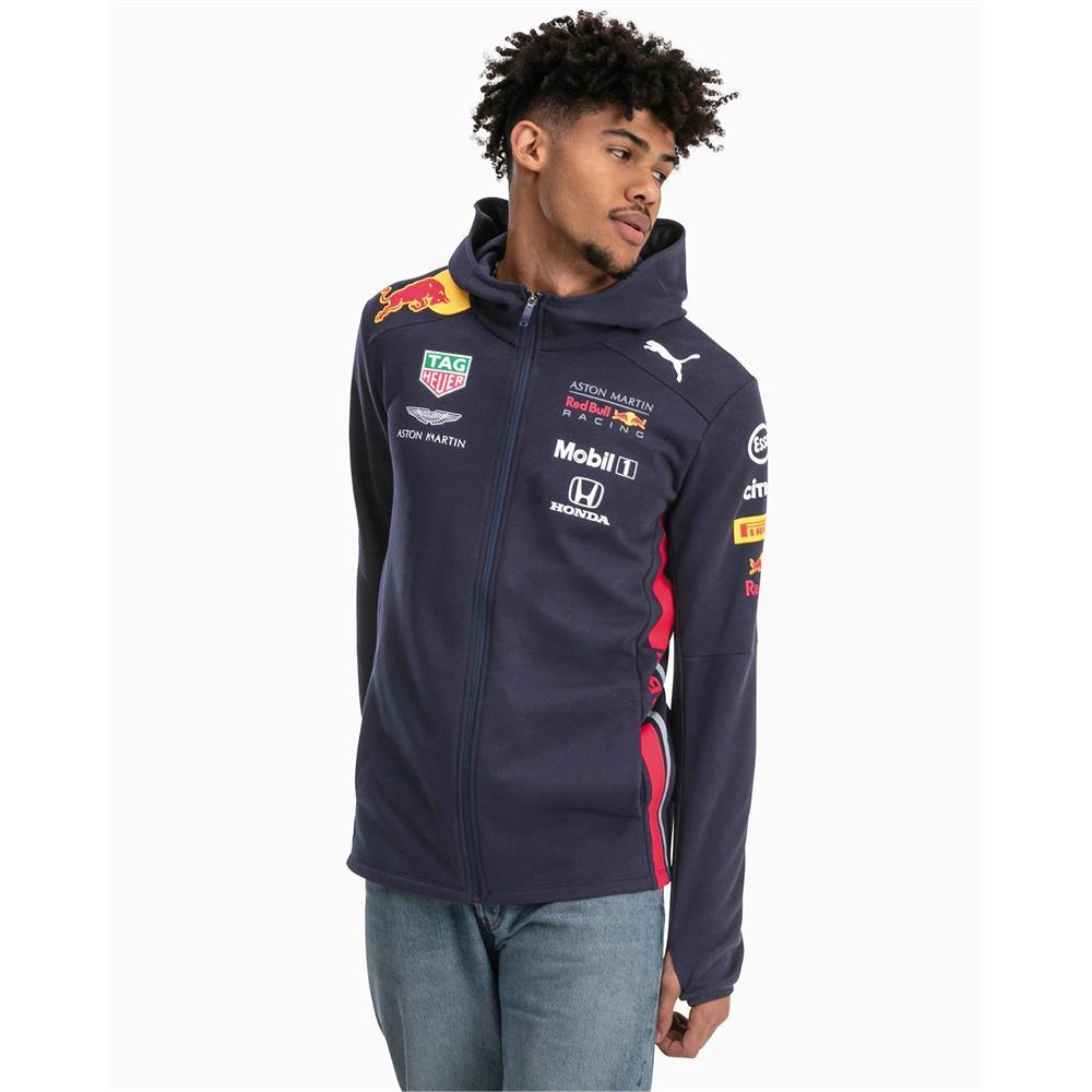 Puma-Red-Bull-Racing-Team-Hoodie-F1-Herren-Kapuzenjacke-Formel-1-Sweatjacke Indexbild 4