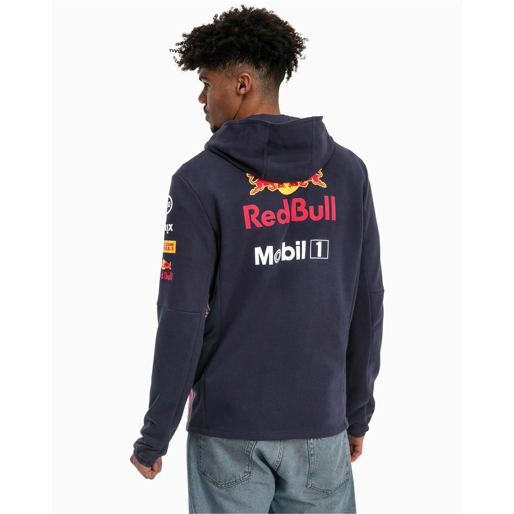 Puma-Red-Bull-Racing-Team-Hoodie-F1-Herren-Kapuzenjacke-Formel-1-Sweatjacke Indexbild 5