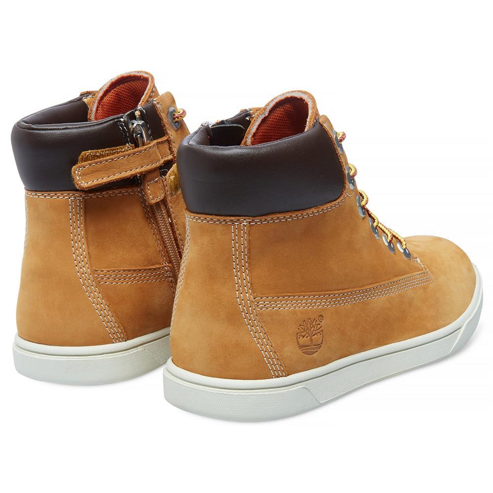 Timberland-Groveton-6-Inch-Side-Zip-Kinder-Boots-Schuhe-Stiefel