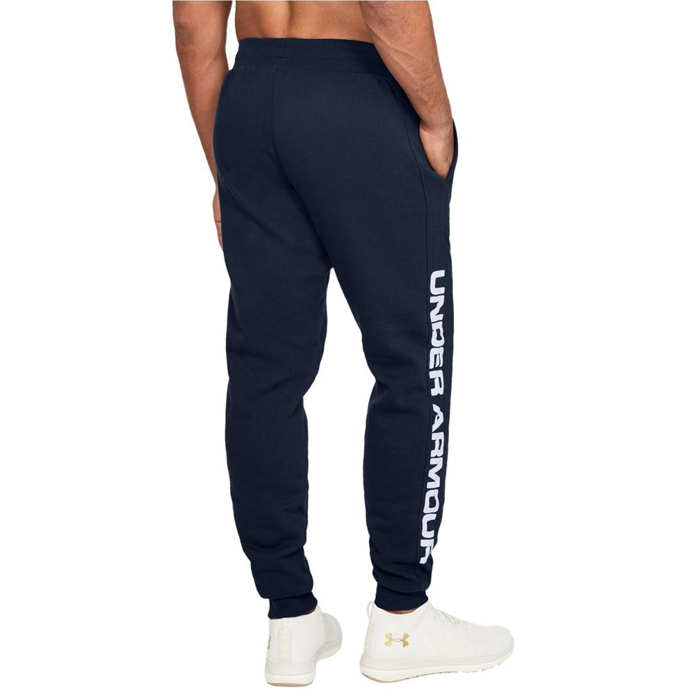 Under-Armour-ColdGear-Rival-Fleece-Script-Trainingshose-Jogginghose-Sport-Hose Indexbild 3