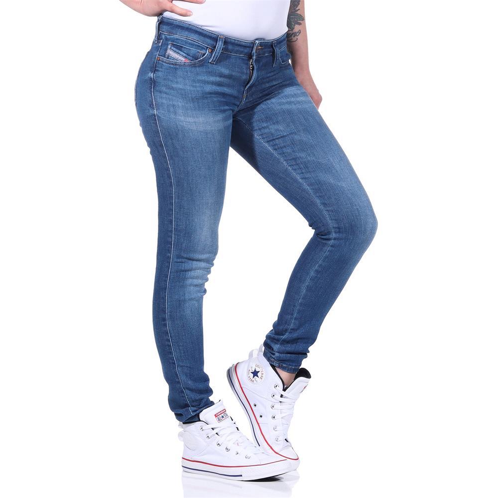 Indexbild 7 - Diesel SKINZEE-LOW-S Damen Jeans Denim Super Slim-Skinny Low Hose Jeanshose
