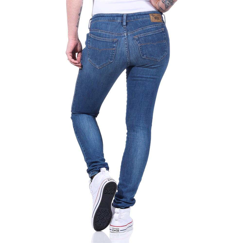 Indexbild 8 - Diesel SKINZEE-LOW-S Damen Jeans Denim Super Slim-Skinny Low Hose Jeanshose